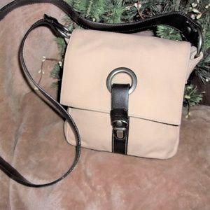 AEO tan brown purse shoulder bag womans canvas